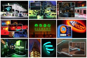 Architectural, Automotive, Bar, Exhibition, Emergency, Marine & Signage,
