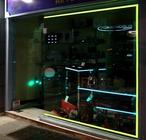 Shop Window Lighting with Light Tape