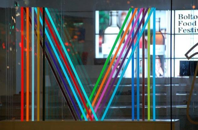 Light Tape M Logo Manchester Visitors Centre