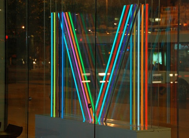 Light Tape Manchester Visitors Centre  Logo Original Designed by Peter Saville
