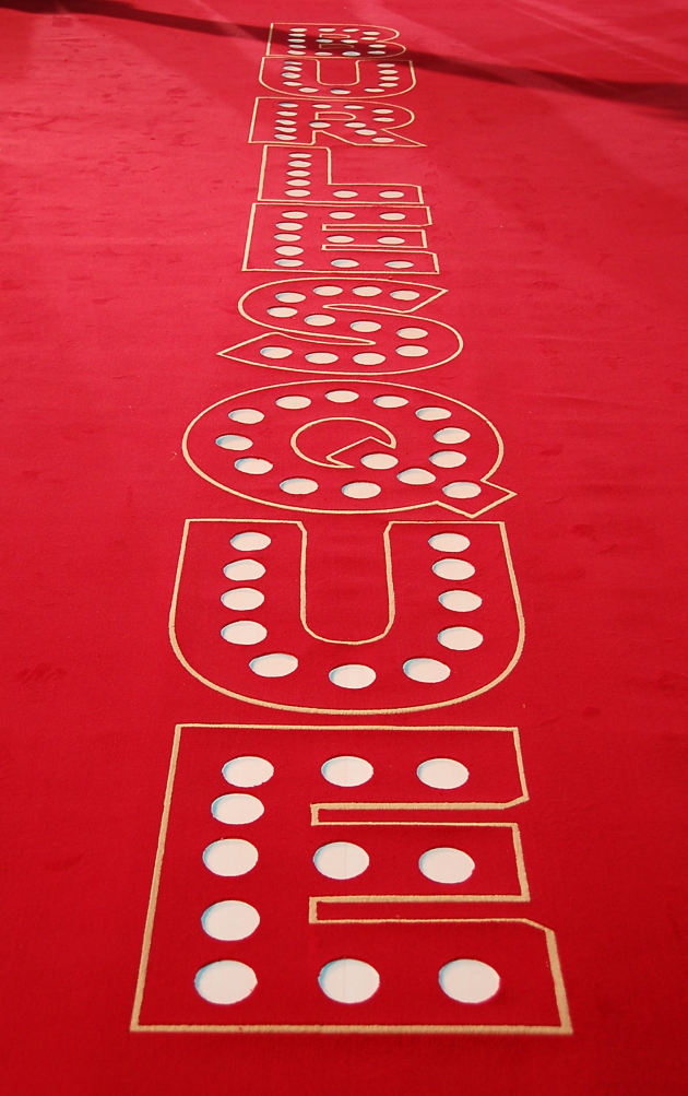 Light Tape Illuminated Burlesque Red Carpet