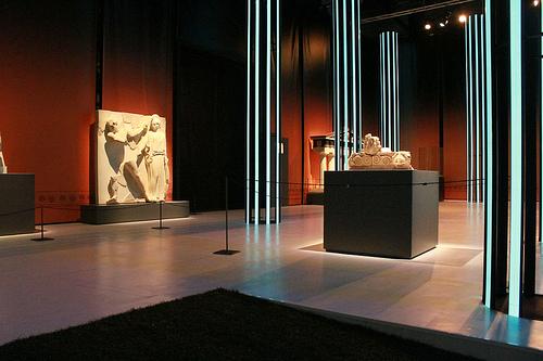 Light Tape Column's at Olympics Exhibition, Doha-Qatar