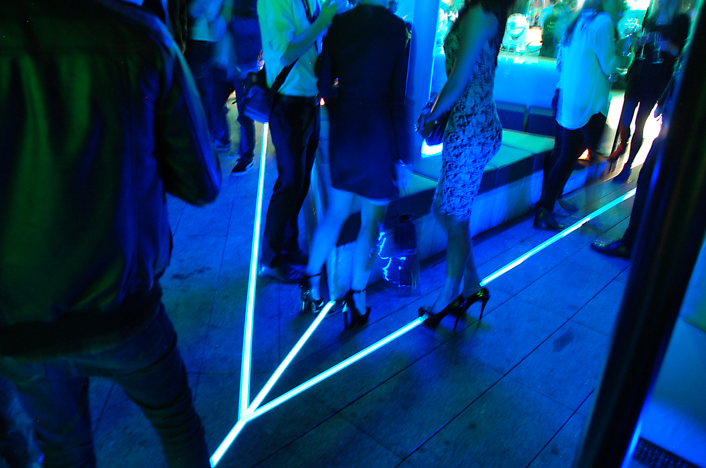 light tape outdoor floor lighting used at the launch of