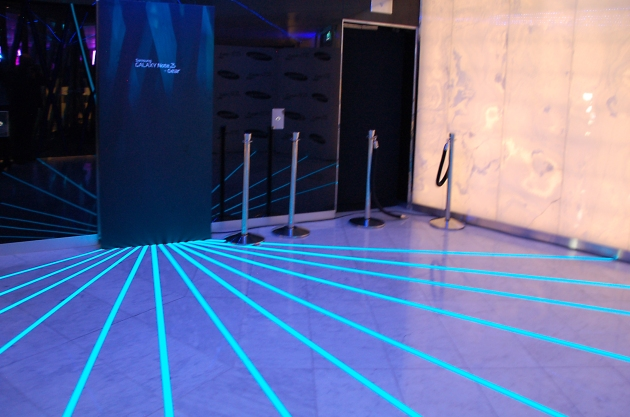 Light Tape Floor Display used at the launch of the Samsung Galaxy Note 3 + Gear