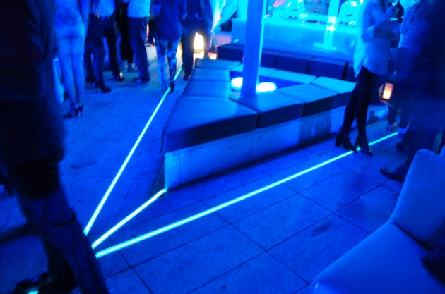 Light Tape Outdoor Floor Lighting used at the launch of the Samsung Galaxy Note 3 + Gear