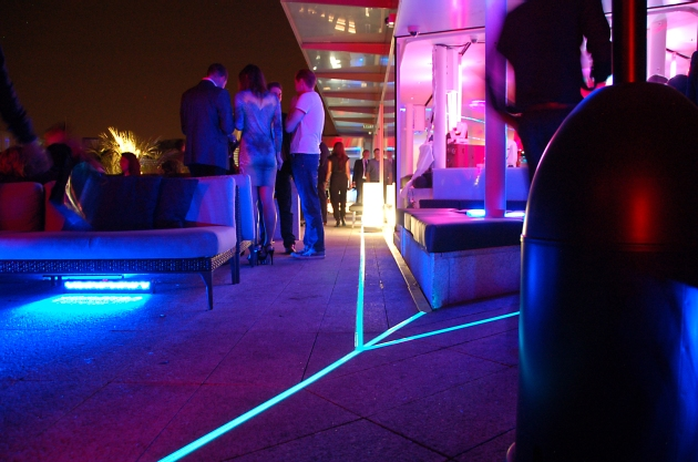 Light Tape Outdoor Directional Floor Lighting used at the launch of the Samsung Galaxy Note 3 + Gear