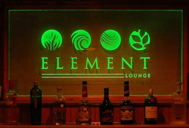 Element Lounge Edge Lit Acrylic Display