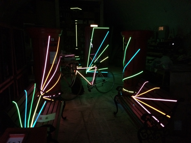 Light Tape Props for Nike FlyKnit Event London