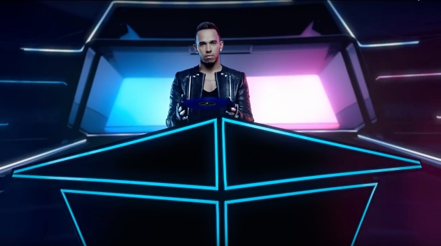 Lewis Hamilton Tron Light Tape DJ Booth Medcedes