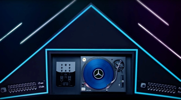 Light Tape Tron DJ Booth Mercedes